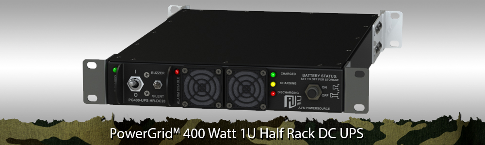 Rugged Half Rack UPS | Half Rack AC UPS, Half Rack AC Power, 1U Half Rack AC Uninterruptible Power Supply, 1U Half Rack UPS