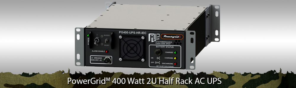 Military Half Rack UPS | 2U Half Rack AC UPS, Rugged Half Rack Rackmount, 400 Watt Rugged Uninterruptible Power Supply, Half Rack Chassis