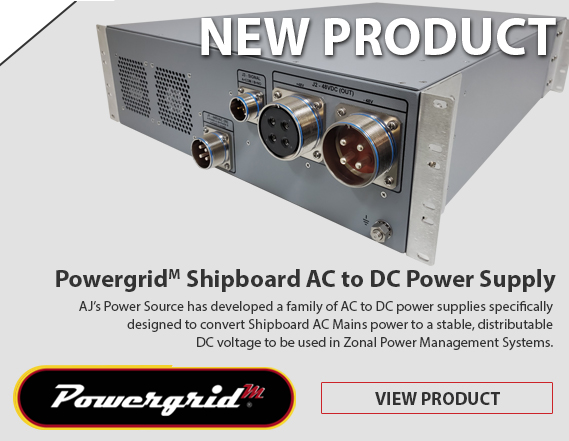Shipboard AC to DC Power Supply | Supports Zonal Power Systems | MIL-STD-1399